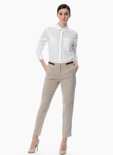 Dantel Sırt Detaylı Slim Fit Gömlek-Network